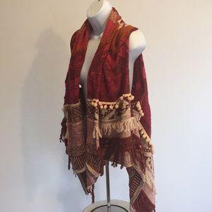 Anthro Moth Alpaca Blend BOHO Hippie Sweater M L